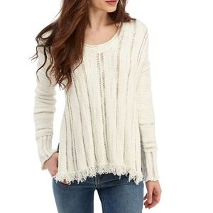 Free People Ocean Drive Pullover Sweater Ivory XS